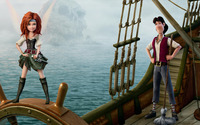 Zarina and James - The Pirate Fairy wallpaper 2880x1800 jpg