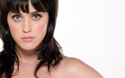 Brunette Katy Perry close-up wallpaper