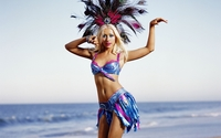 Christina Aguilera in a brazilian costume wallpaper 1920x1200 jpg