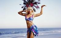Christina Aguilera in a brazilian costume wallpaper 1920x1200 jpg