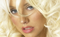 Christina Aguilera with blonde hair and pink lips portrait wallpaper 1920x1080 jpg
