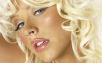 Christina Aguilera with blonde hair portrait wallpaper 1920x1200 jpg
