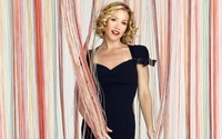 Christina Applegate in a dark blue dress wallpaper 1920x1080 jpg