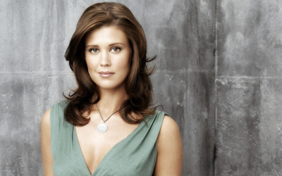 Cute Sarah Lancaster with necklace wallpaper
