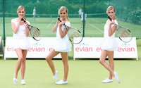Diana Vickers holding a tennis racket wallpaper 1920x1200 jpg