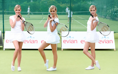 Diana Vickers holding a tennis racket wallpaper