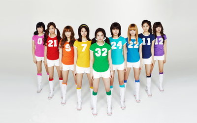 Girls' Generation in sport outfit Wallpaper