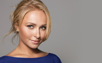 Hayden Panettiere with a blue top wallpaper 1920x1200 jpg