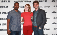 Jamie Foxx, Emma Stone and Andrew Garfield [3] wallpaper 2880x1800 jpg