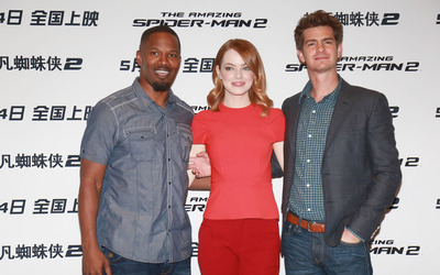 Jamie Foxx, Emma Stone and Andrew Garfield [2] wallpaper