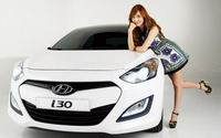 Jessica Jung and a Hyundai i30 wallpaper 1920x1200 jpg
