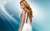 Kat DeLuna in white pants and white top wallpaper 1920x1080 jpg