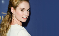 Lily James at the Cinderella premiere wallpaper 1920x1080 jpg