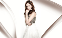 Lily James in a silver and white dress wallpaper 2560x1600 jpg