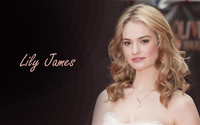 Lily James with loose curls wallpaper 2560x1600 jpg