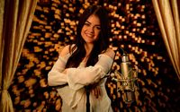 Lucy Hale with the microphone wallpaper 1920x1200 jpg