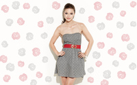 Melissa Benoist in a gray dress wallpaper 2880x1800 jpg