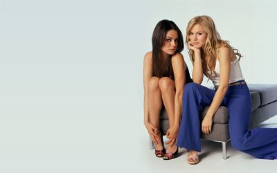 Mila Kunis and Kristen Bell wallpaper