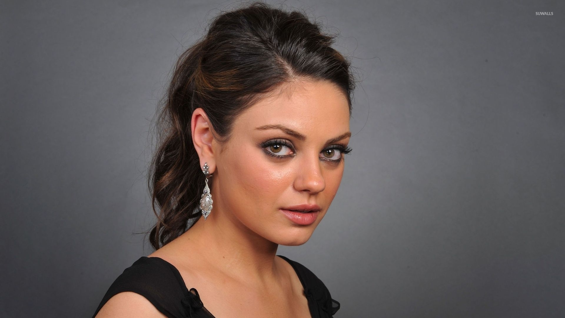 mila kunis with a black top wallpaper - celebrity wallpapers - #49244