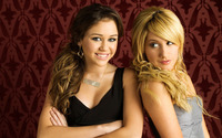 Miley Cyrus and Ashley Tisdale wallpaper 1920x1200 jpg