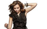 Miley Cyrus in a black cozy dress wallpaper 1920x1200 jpg