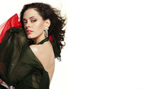 Mysterious Rose McGowan in a black dress wallpaper 1920x1200 jpg