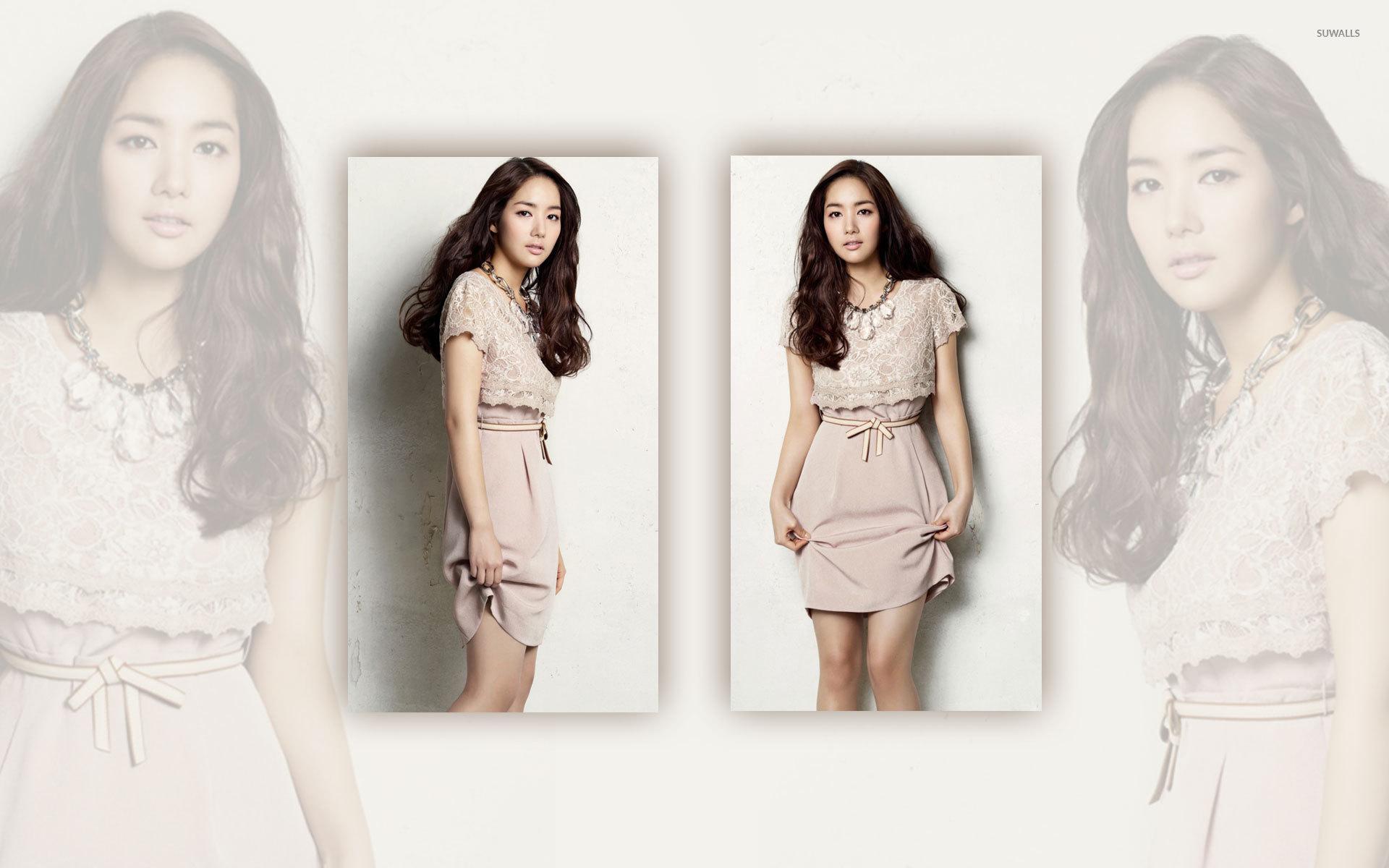 park minyoung in a kaki dress wallpaper celebrity
