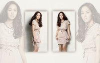 Park Min-young in a kaki dress wallpaper 1920x1200 jpg