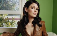Rachel Bilson with a leather jacket wallpaper 1920x1080 jpg