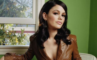 Rachel Bilson with a leather jacket wallpaper
