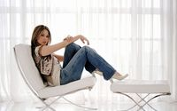 Rachel Stevens relaxing on a chair wallpaper 1920x1080 jpg