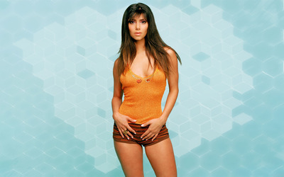 Roselyn Sanchez wearing an orange top wallpaper