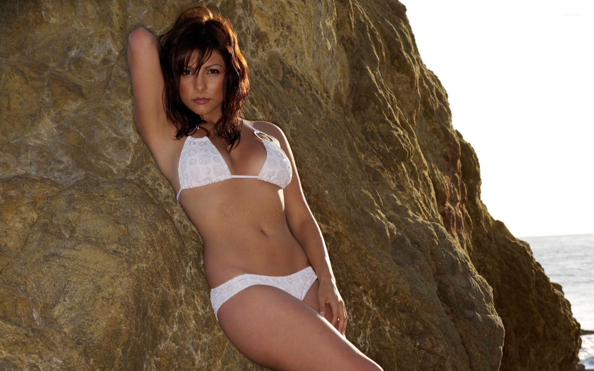 b573749de96 Roxanne Pallet with white swimsuit wallpaper - Celebrity wallpapers ...