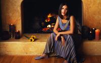 Salma Hayek in front of fireplace wallpaper 1920x1080 jpg