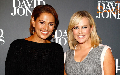 Samantha Armytage and Sally Obermeder wallpaper