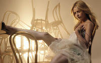 Sarah Michelle Gellar in a room full of chairs wallpaper 1920x1080 jpg