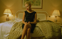 Scarlett Johansson on a bed wallpaper 1920x1080 jpg