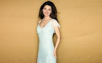 Shania Twain smiling in a white dress wallpaper 1920x1080 jpg