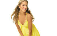 Silvie Van Der Vaart with yellow dress wallpaper 1920x1080 jpg