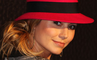 Stacy Keibler with a red hat wallpaper 1920x1080 jpg