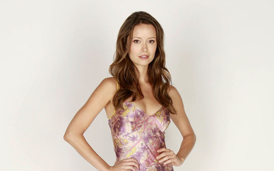 Summer Glau with her hands on her hips wallpaper