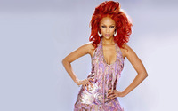 Tyra Banks with her hands on her hips wallpaper 1920x1200 jpg