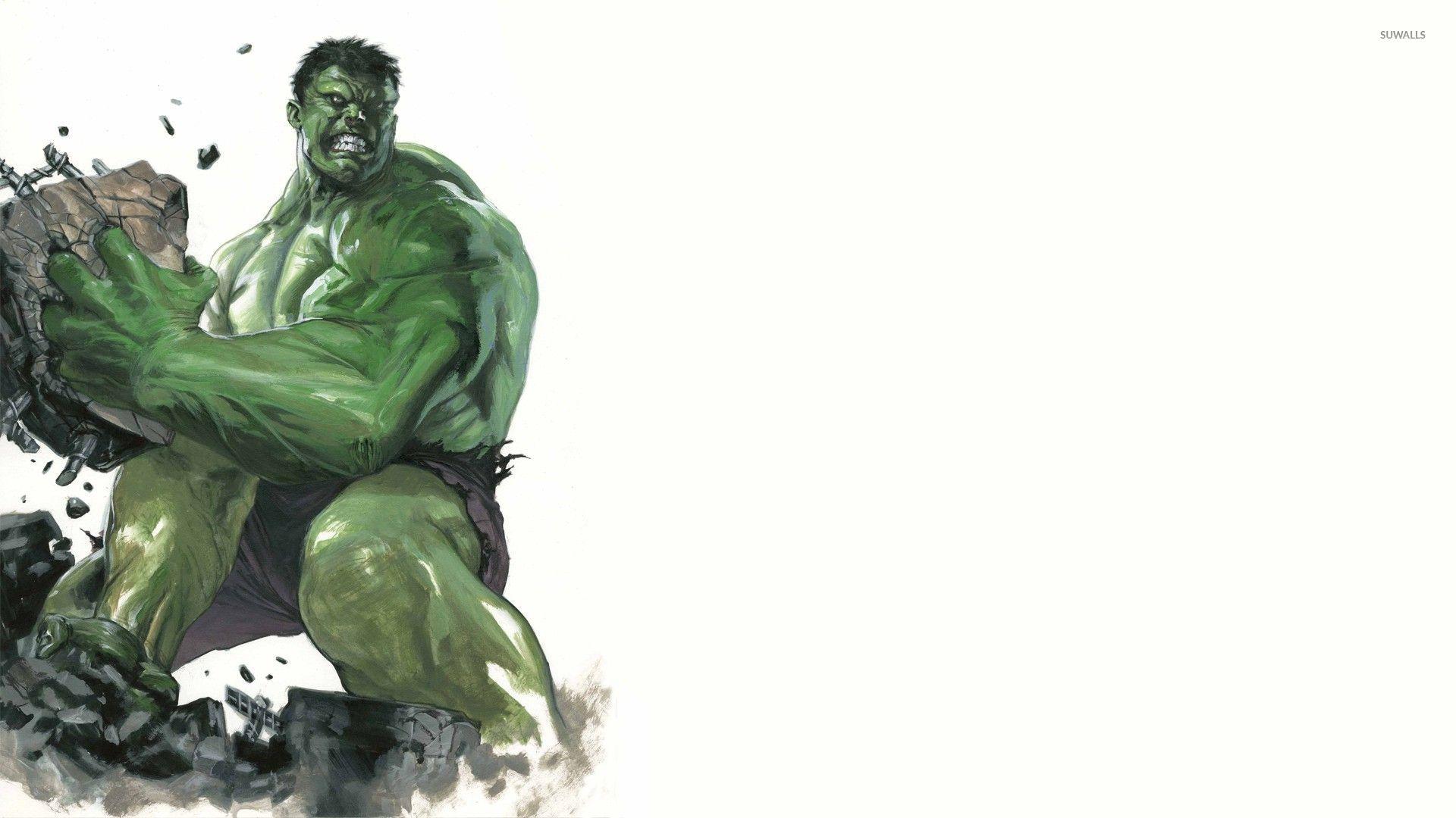 angry hulk throwing rocks -#main