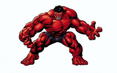 Angry Red Hulk wallpaper