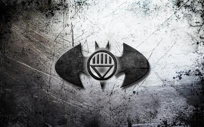 Batman dark gray logo wallpaper