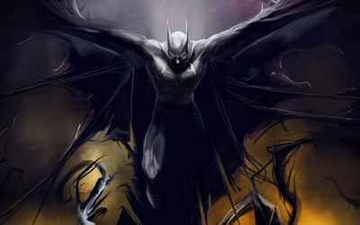 Batman spreading his wings wallpaper