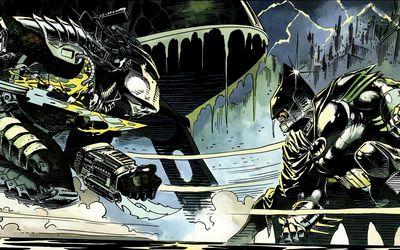 Batman versus Predator wallpaper