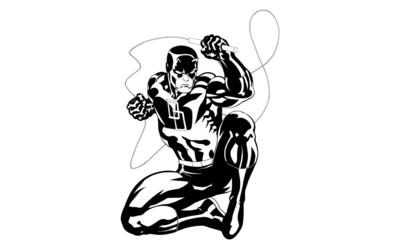 Black and white Daredevil wallpaper