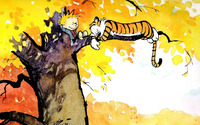 Calvin and Hobbes wallpaper 1920x1200 jpg