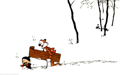 Calvin and Hobbes [7] wallpaper